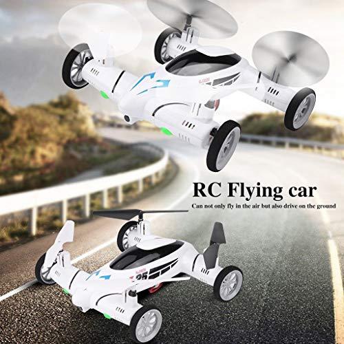 Nourich RC fliegendes Auto Quadcopter 2 in1 Drohne Luft Boden Fernbedienung 3D Rollen Spielzeug w/LED Lichter