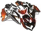 LoveMoto Verkleidung für GSX-R600 GSX-R750 K8 2008 2009 2010 08 09 10 GSXR 600 750 ABS Spritzguss Kunststoff-Motorradverkleidung-Sets Schwarz Orange