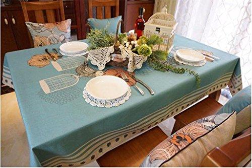 CGN Tischdecke einfache und moderne Tischdecke rechteckige Kaffee Tischdecke Baumwolle und Bettwäsche Handtuch Schön ( Farbe : A , größe : 223*140cm ) (Bettwäsche Tischdecke Quadratische Rosa)