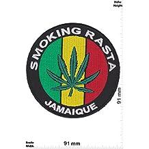 Parches - Smoking Rasta - Jamaique - Smoke - Dope - Freedom - Vest - Iron on Patch - Parche Termoadhesivos Bordado Apliques - Patch - Give Away Regalar
