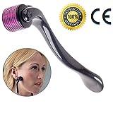 Derma roller, rullo a 540 microaghi al titanio per terapie cosmetiche della pelle