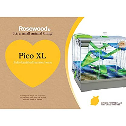 Rosewood Pico Hamster Cage, Extra Large, Silver 2