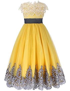 GRACE KARIN Vestito Ragazza elegante fiore abito senza maniche
