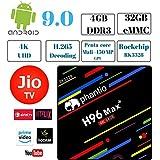 PHANTIO H96 MAX+ Smart TV Box - Jio TV Hotstar Android 9.0 Bluetooth HDMI2.1 Rockchip RK3328 Quad-core CPU Penta-core Mali-450MP GPU (4GB / 32GB)