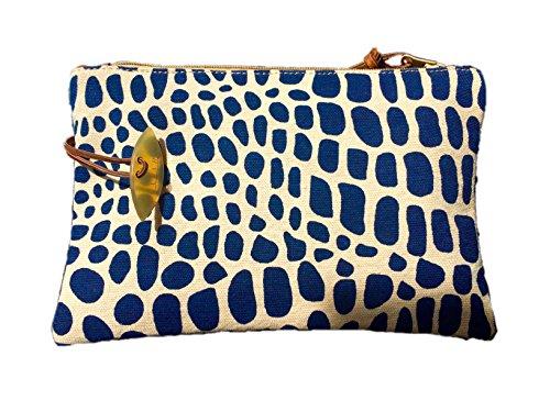 Afar for Hinterland Styles, Poschette giorno donna Cheetah Blue