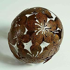 15 cm Sunny Toys 13619 Keramik Kugel mit Rosendekor und Spiegelmosaik verziert