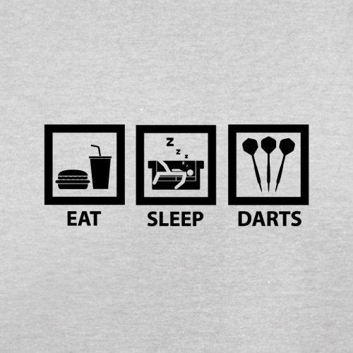 Eat Sleep Darts - Herren T-Shirt - 13 Farben Hellgrau