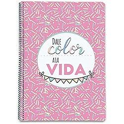 Grupo Erik Editores Cuaderno Tapa Dura A4 5X5 Amelie Classic Rosa
