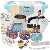 PEBDESI - Kit Completo de Fabricación de velas – Crea velas de cera perfumadas – Juego completo para principiantes que incluye cera de 225 gramos, aromas ricos, tintes, mechas y más