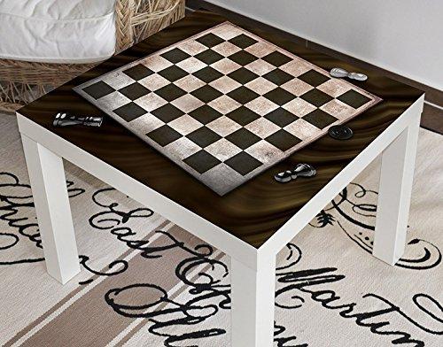 Klebefieber Design-Tisch Schachbrett B x H: 55cm x 55cm