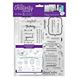 Creativity Essentials Stempel-Set mit Geburtstags-Versen in Englischer Sprache, transparent, A5, 39-teilig