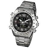 Infantry IN-074-S-S Herren Analog-Digital Armbanduhr Herrenuhr Datum Alarm Stoppuhr Outdoor Chronograph XL Edelstahl Armband