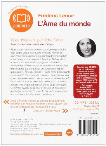 L'Âme du monde: Livre audio 1 CD MP3 - 302 Mo - Suivi d'un entretien inédit avec l'auteur