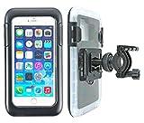 smart2Bike® Fahrradhalterung / Motorrad-Halterung mit Hard Case (Schutz-Tasche) für Smartphone, Navigator, Handy, uvm. - Display-Diagonale Universal: 5,5