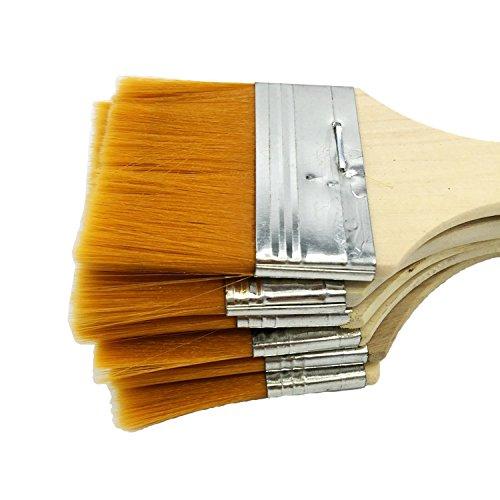 Kcopo Holz Pinselset Künstler Malen Pinsel Acryl Aquarell Flachpinsel Ölmalpinsel Werkzeug für Malerei Ölmalerei Ölfarben Bürste