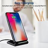 Fast Wireless Charger, HiGoing QI Wireless Ladegerät Kabellose Induktive Ladestation mit Schnellladefunktion 2 Spulen für Samsung Galaxy Note 8/S8/S8 Plus/S7/S7 Edge/S6 Edge Plus/Galaxy Note 5 und alle Qi-fähige Geräte - 2