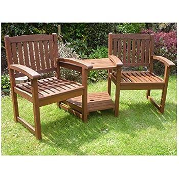 Vonhaus Garden Love Seat Companion Bench