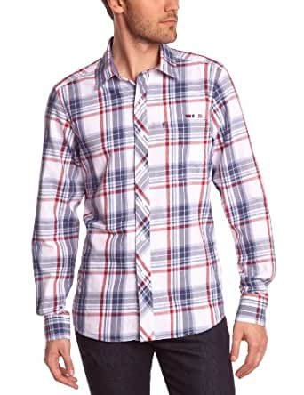 TBS Herren Business Hemden   - Grau - Gris (Cardinal) - Small (Herstellergröße: 1/S)