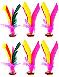 Toyvian 12 Piezas Colorido Pluma Patada Volante Chino Jianzi Pateando Volante Pluma Pie Deportes Juguete Al Aire Libre