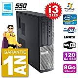 Dell PC 390 DT Intel i3-2120 RAM 8 GB SSD 120 GB DVD-Brenner WLAN W7