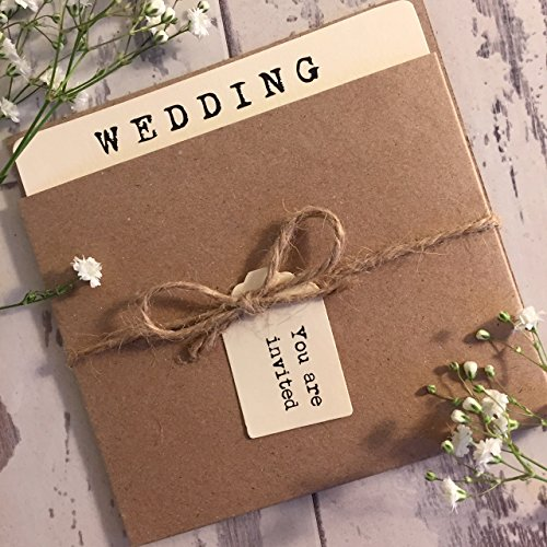 Helena-RusticVintageShabby-Chic-Style-Pocket-wedding-invitation-sample-with-two-inserts-finished-with-twine-and-tag