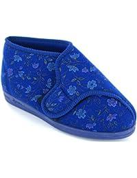 Comfylux - Zapatillas de estar por casa para mujer Azul azul
