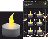6 Stk LED Kerzen Teelichter flackernd inkl Batterien Weihnachten Teelicht elektrisch Kerzen Deko Ambiente Valentinstag Weihnachtsdeko flackernd