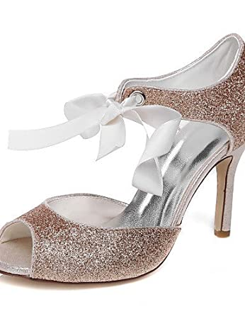 ShangYi Women's Wedding Shoes Heels Sandals Wedding / Party & Evening / Dress  Silver / Champagne