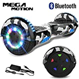 "Mega Motion Self Balance Scooter 6,5""- 2018 Elektro Scooter E-Skateboard - Scooter - UL zertifizierten 2272 LED - Räder mit LED Licht -Bluetooth Lautsprecher – 700W Motor"