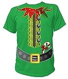 Artdiktat - Elfen Kostüm zu Weihnachten für Herren Damen Kinder Babies - Herren T-Shirt Größe L grün
