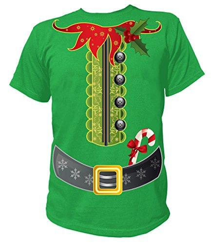Artdiktat - Elfen Kostüm zu Weihnachten für Herren Damen Kinder Babies - Herren T-Shirt Größe L ()