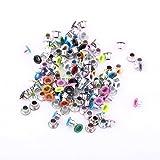 500 Stücke Eyelets Metallösen 3mm Mischfarben Runde Form Scrapbooking Ösen für Lederhandwerk Taschen