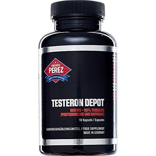 Testeron Depot - 900 mg - 90% Tribuloid - protodioscin et saponine - 90 Capsules -Testeron Depot 900 mg - boost de testostérone éruptive pour la croissance musculaire massive