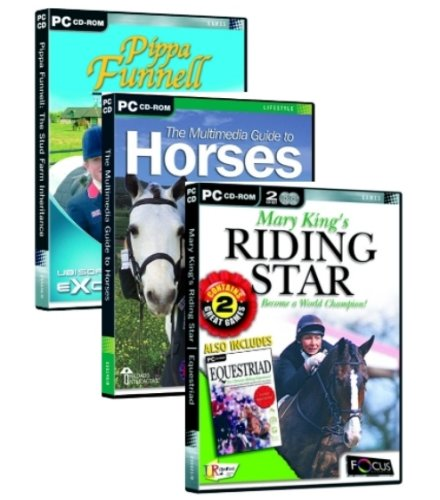 Horse Triple Pack: Pippa Funnell Stud Farm, Multimedia Guide To Horses, Mary King Riding Star/Equestrian (PC)