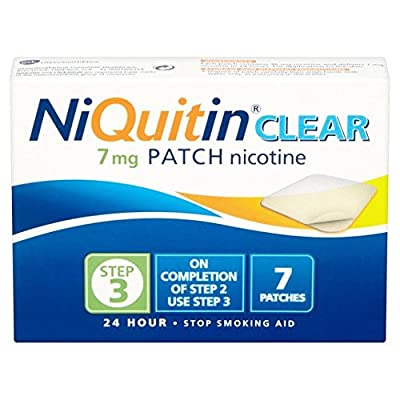 NiQuitin CQ Clear Patch Step 3 7mg 7 per pack by NiQuitin