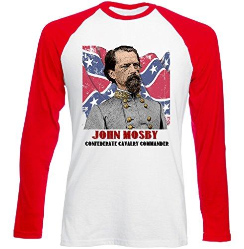 Teesquare1st Men's John Mosby Red Long Sleeved T-shirt