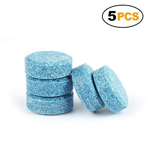 5PCS hosphate-free eco-friendly rondella compresse Effervescenti detergente pulizia Solid tergicristallo 1#