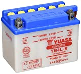 YUASA YB4L-B Powersports AGM Motorrad Batterie, wartungsfrei (Preis inkl. EUR 7,50 Pfand)