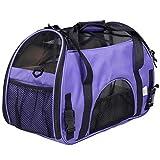 Haustierbeförderer, Transportbox für kleine Haustiere, für Katzen und Hunde, airline-geprüft, tragbare, weiche, leichte Reise-Stofftasche mit Plüschmatte