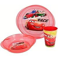 SET MICRO EASY 3 PIEZAS (PLATO, CUENCO Y VASO) CARS RACES EDGE