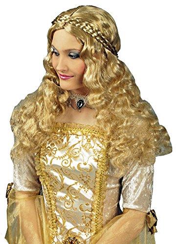 Edelfrau Langhaar Perücke - Blond - Tolles Accessoire zum Kostüm als Engel, Burgfräulein, Edelfrau, Königin oder Prinzessin