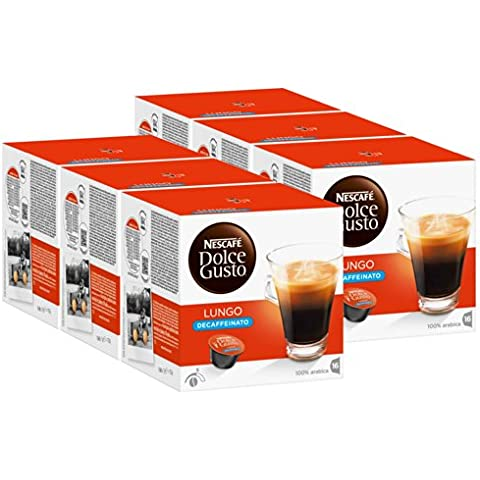 Nescaf? Dolce Gusto Caff? Lungo Decaffeinato, Pack of 6, 6 x 16 Capsules