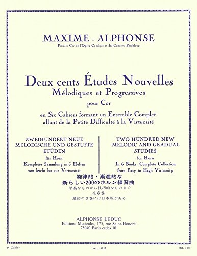 Maxime-Alphonse: New Studies in Three Books for Trumpet - Book 1
