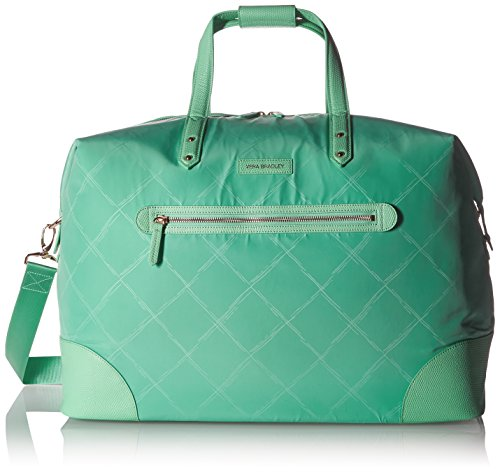 Vera Bradley Preppy Polyester Corner Travel Duffel Bag, Mint, One Size