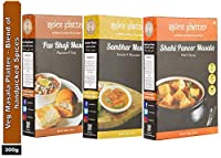 Spice Platter Pav Bhaji Masala, Sambhar Masala & Shahi Paneer Masala - Veg Masala Platter - 300 Grams (Pack of 3-100g Each)