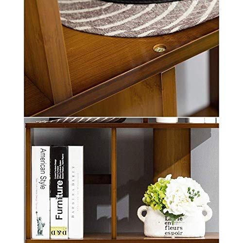 Bzwj Regale Regale Bambus Schrank Bücherregal Teiler Regal Magazin Buchhalter Dvd/Cd Rack Storage Unit Bücherregal Racks,2 Tier-80 * 24,5 * 68,5 cm -