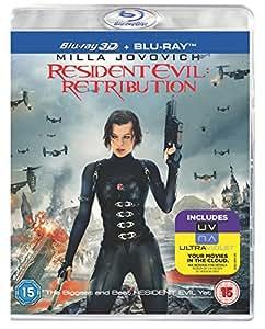 Resident Evil: Retribution (Blu-ray 3D + Blu-ray + UV Copy) [2012] [Region Free]
