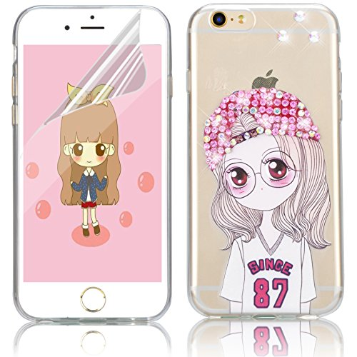 iPhone 7 Silikon Hülle,iPhone 7 Hülle,Sunroyal TPU Case Schutzhülle Silikon Crystal Kirstall Clear Case Durchsichtig,Funny Pinkeln Pee Junge Malerei Muster Transparent Weichem Silikon Schutzhülle Hand Pattern 11