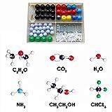 JZK Orgánico e inorganica química molecular modelo equipo muestra para estudiantes que aprenden, 50 átomos y 74 bonds parts
