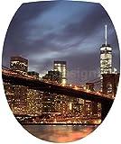 Sticker Autocollant Abattant WC New York Pont de Brooklyn 35x42cm - SAWC0505
